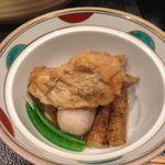 活魚・鍋料理 風車 - あら炊き。野菜の風味も良く楽しめました