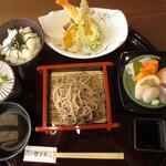 蕎麦や 銀次郎 - 銀の蕎麦膳 1380円