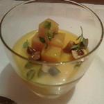 20943773 - 【アミューズ】バターナッツという名のカボチャのムース アーモンド、ハーブ