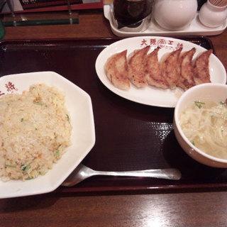大阪王将  - 料理写真:餃子定食A(シングル)690円