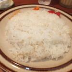 カラクタ食堂 - 夏季限定 海老と帆立の夏野菜カレー 850円のご飯  中300g 【 2013年8月 】
