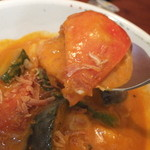 カラクタ食堂 - 夏季限定 海老と帆立の夏野菜カレー 850円の赤パプリカ 【 2013年8月 】