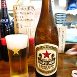 ほほほの北海道 室蘭焼鳥 いっぺえやっぺえ。 - 王道のサッポロラガー488円