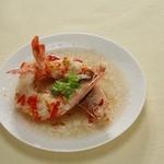 中国薬膳料理 星福 - 海老のにんにくソース蒸し