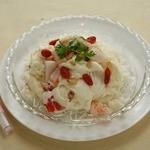 中国薬膳料理 星福 - 真珠粉入り海鮮と卵白の炒め