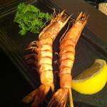 北海道バル - 海老の串焼き