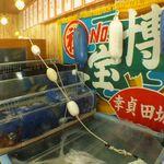 男組釣天狗 - これだけ大きな生け簀は、飲食店では中々お目に掛かれない。全国各地の漁港からの直送鮮魚!もちろん海水だから活きと鮮度が違います!