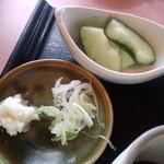 尚庵 - 薬味とお漬物(2013.8月)