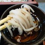 そば処 高山 - 細平うち麺?ミニそばじゃなくて普通盛りにすれば良かった。