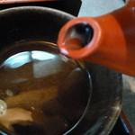 そば処 高山 - 蕎麦湯も良いタイミングでだしてくれました