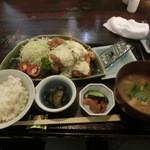 魚山亭 渋谷店 - ちきん南蛮定食でございます(2013.08)