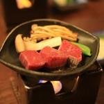 御幸荘花結び - 地物 神戸産牛すてーき かきの木茸 エリンギ スナップえんどう