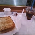 ヴィ・ド・フランス - トースト、アイスコーヒー、ゆで卵