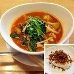 20966477 - トマト麺とリゾットおむすびのセット(780円)