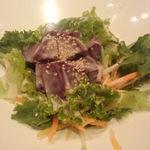 okinawanikusakabanuchigusui - 紅芋と宮古野菜のサラダ\580