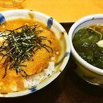 たまの里 - おろしカツ丼セット950円