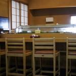 やなぎ寿司 - カウンター席