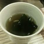 石水亭 - わかめスープ♪