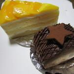ボンボンの森 - マンゴーのショートケーキとチョコの桃入りロール