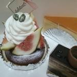 菓子工房エクラタン - 料理写真:いちじくのタルト、スフレフロマージュ、オペラ