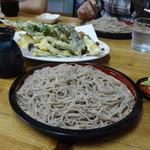 そば処 もくりん - ざる蕎麦大盛りと天ぷら盛合わせ