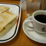 コンパル - 1)コーヒー(380円)+モーニング(+130円)