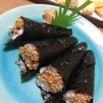 味の鳥天 - 納豆巻