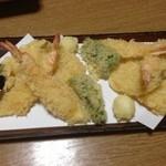 味の鳥天 - 天ぷら盛合せ