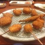 串膳 - 串カツ10種盛り。 サクサク♬いい上がり具合!