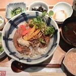 Ennagoya - 牛リブロースのステーキ丼 1380円