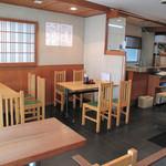 大徳屋 - 1階には厨房があるので、繁忙時はやや落ち着かない感じですが、 商店街を見下ろせる2階席は比較的静かです。