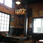 お食事処 だいこんや - なんと、店内からだと外の景色がよく見えます! 古民家風がよいです。