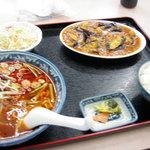 四川菜館 - 日替わりBランチ(麻婆茄子+台湾ラーメン)