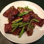 中華厨房 らんたな - 牛レバーの山椒炒め★★
