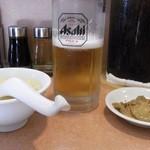 20998197 - ビール・コーンスープ・ザーサイ