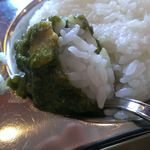 RAJ - 固めに炊かれたご飯とカレーとの相性はバッチリでした。