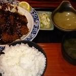 丸忠 - ロースカツ定食 1300円