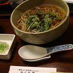 音市楼 かくれ庵 - 「山菜蕎麦」800円  h25.9.1撮影