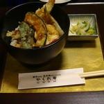 音市楼 かくれ庵 - 「ミニ天丼」350円  ミニと言いながら結構有難い量ですよ。h25.9.1撮影