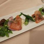 21005406 - 彩り岩手県産野菜とサーモンの炙り