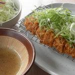 とんかつ 喜太条 - ねぎ塩ロースかつ定食