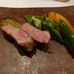 Cuisine Franco-japonaise Matsushima - スペインカテルーニャ産ラルポークロースミントソース