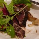 Cuisine Franco-japonaise Matsushima - 戻りカツオと冬瓜、焼き茄子のサラダ、いしると黒胡麻ドレッシング