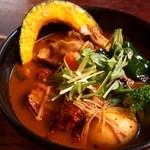 奥芝商店 - 厚切りベーコンと5種のキノコの巻(海老スープ)