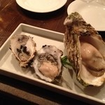 コジシタ - 左から先端、ウィンディポイント、能登の岩牡蠣
