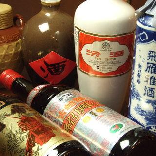 中華料理に合う紹興酒など、各種ドリンクを豊富にラインナップ