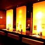 居酒屋 かまどか - 女性同士、デートにも人気の二人席付きカウンター♪まったりと飲みたい夜にどうぞ・・・☆ ※系列店写真