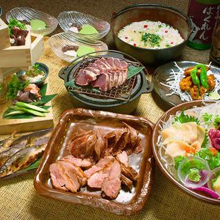 【宴会】厳選ジビエを堪能♪飲み放題付き(2h)→4,980円