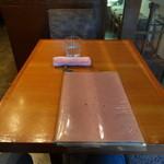 甘味処 由はら - テーブルセッティング