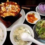 桂林餃子 満足 - 麻婆豆腐ランチ!